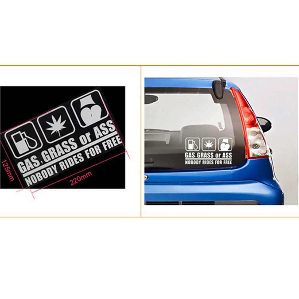 Модные Газ Трава Или Задница грузовой автомобиль сзади окно бампер наклейка на стену винил JDM Стикеры