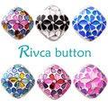 Moda al por mayor de alta aleación epoxi quality18mm d02502 caliente bracelet & bangles para las mujeres en forma de botón a presión rivca botón snap joyería