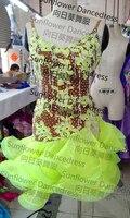 beautiful Latin dance dress Girls ballroom dress salsa dress Rumba Women latin dance dress