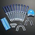 Profissionais Dentes Branqueamento Conjunto de Clareamento Dental Dente Branqueadoras Dental + Bandejas + Luz Dental Equipamentos de Cuidados de Saúde Kit de Ferramentas Em Casa
