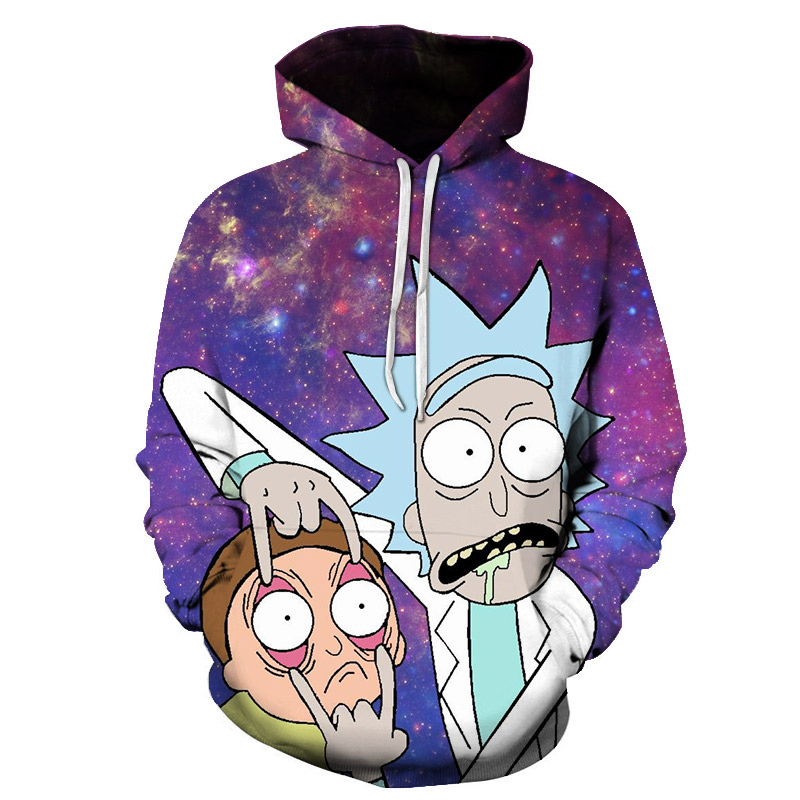 Brand Design 3D Cosmos Men Sweatshirt Rick And morty Funy Family Time Print Casual Hoody Hoodies Anime Unisex 14 Spoof Style