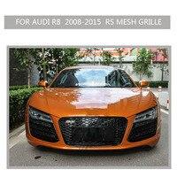 Car STYLING R8 Grille Black Emblem Front Bumper Mesh Radiator Grill For Audi R8 2008 2015