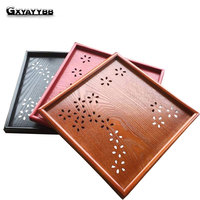 Pallet Kung Fu Tea Saucer Fruit Plate Tea Tray Decoration Storage Chinese Wooden Tray Vintage Coffee