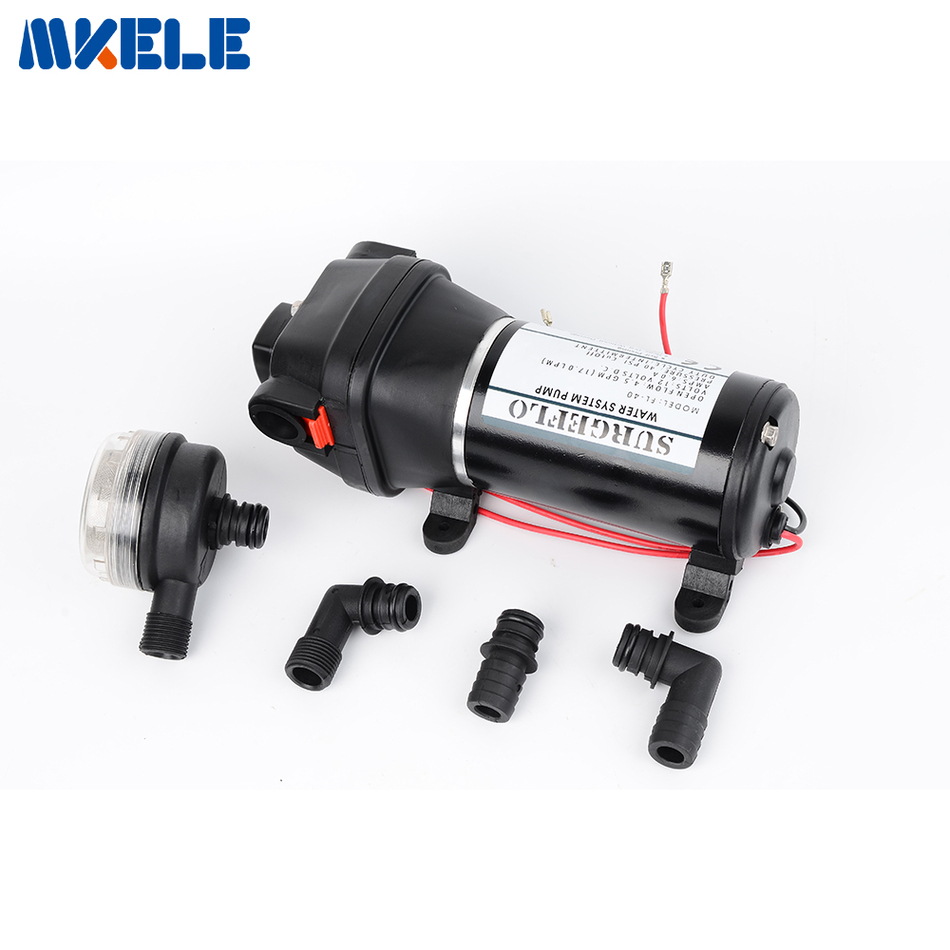 12V/24V DC Mini auto Water Pump Electric Diaphragm Pump Lift 25m for RV Car yacht 12v 24v 160w 38mm accelerate water circulation auto electric a c heater water pump strengthen a c heating for car truck