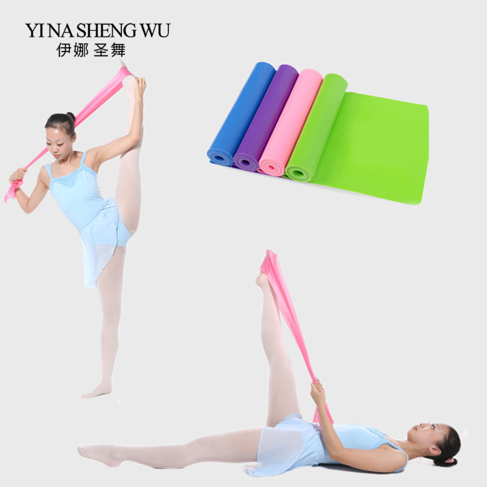 Pure Latex Elastic Ballet Stretch Band Fitness Yoga Pilates Pull Up Resistance Band Ballet Dance Accessories Adult Children