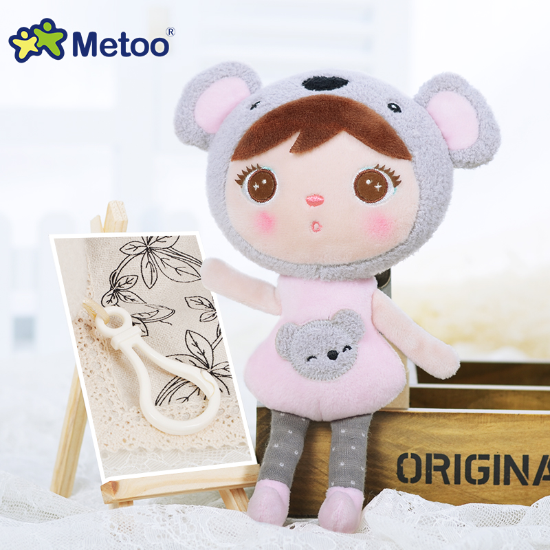 Kawaii Stuffed Plush Animals Cute Backpack Pendant Baby Kids Toys for Girls Birthday Christmas Keppel Doll Panda Metoo Doll