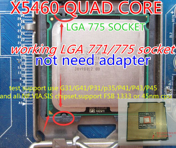 x5460 Quad Core Server Processor X5460 CPU 3.16GHz/12MB cache /1333MHz/LGA771 cpu working 775 socket mainboard no need adapter