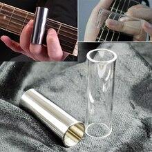Stainless Steel / Glass slide Guitar Finger Sliders Electric Guitar Pick Tube Knuckle Guitar Accessories Guitar Finger Sliders недорого