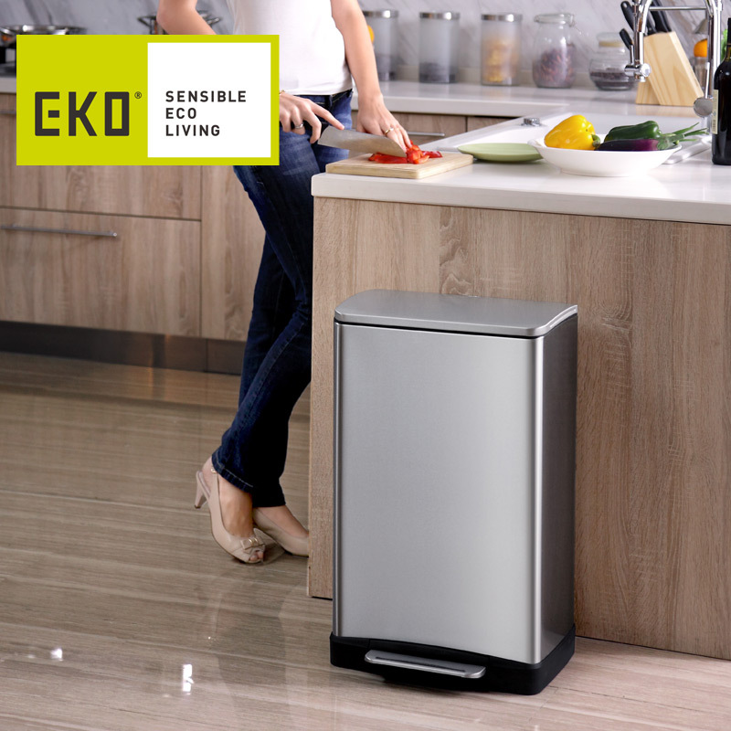 Eko Should Be Muted Anti Fingerprint Stainless Steel Pedal Bin Creative Household Kitchen Trash Can With Lid 9268 On Aliexpress Alibaba Group