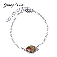 SL047 Fashion Handmade Bracelet & Bangle For Women Religion Faith Dangle Bracelets Charm Ethnic Jewelry Party Gifts(China)