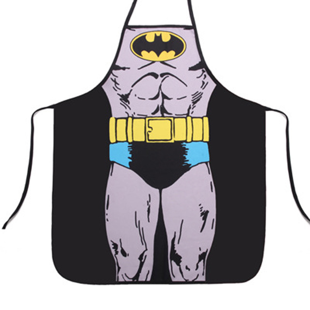 New Arrival Superman Batman Apron Personality Whimsy Novelty Couples Party Sexy Fun Gifts Party Sale Dropshipping Hot Sale|apron personalized|batman apron|apron batman - title=