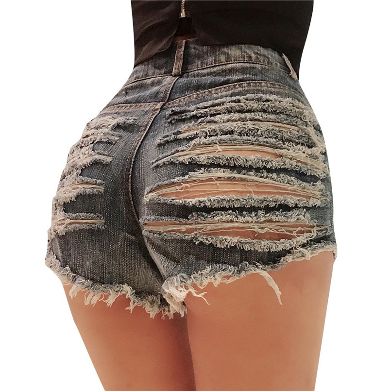 Hot New Style Summer Sexy Women Cool Hole Denim Jeans Fashion Hole Pockets Mini Shorts Jean For Women Girls 40MA07 (8)