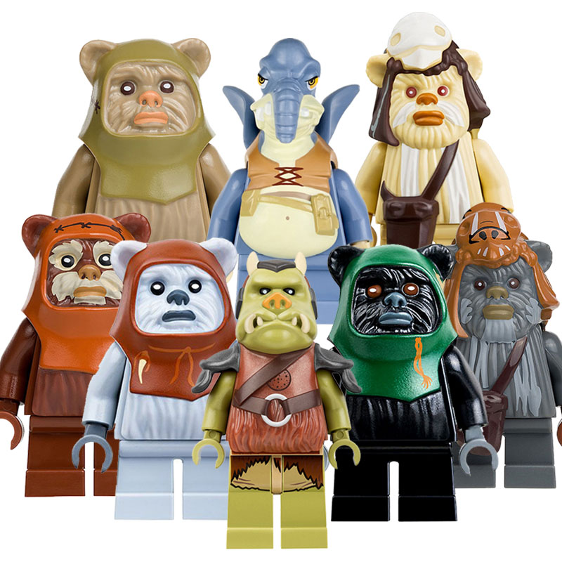 CZHY Star Wars Blocks Bricks Ewok Village Tan Tokkat Wicket Paploo Logray Battle of Endor Building Gift Toys Christmas PG8067 new top grade gift pure tan wooden type h chun tan mu shu h kuan