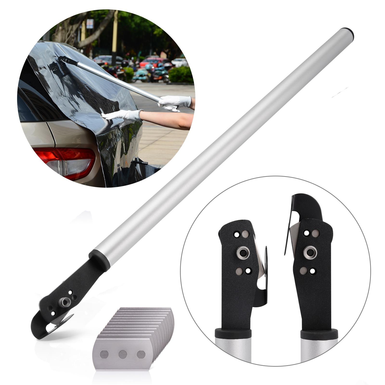 FOSHIO 23 дюймов ручка виниловая пленка тефлоновый резак многофункциональный нож + 10 шт. лезвие обои Автомобильная Наклейка Режущий инструмент