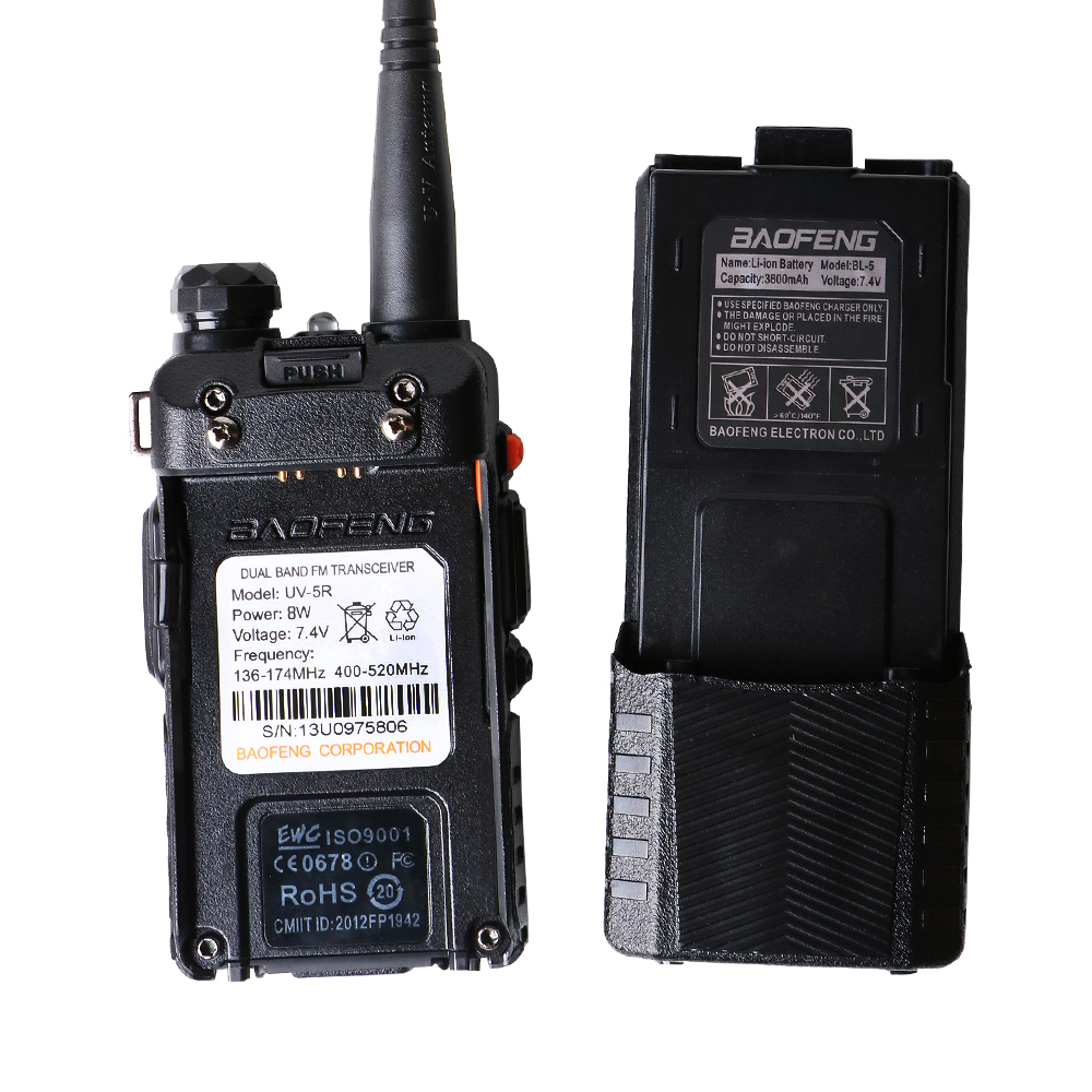 Image 4 - Baofeng UV 5R 8W 3800mAh Battery Walkie Talkie 128 Dual Band Two Way Radio UHF&VHF 136 174MHz&400 520MHz  Ham Radio Transceiver-in Walkie Talkie from Cellphones & Telecommunications