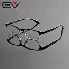 Новинка, ретро очки с прозрачными линзами, оправа для ботана, модные брендовые Дизайнерские мужские и женские винтажные полуметаллические оправы для очков, Oculos EV0882