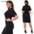 Cuello alto mujeres dress 2017 verano más el tamaño 5xl 6xl corto la oficina de la manga de la moda gran tamaño grande dress trabajo vestidos de correa ropa