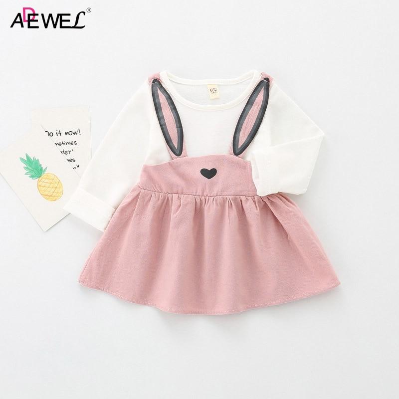 18a01d44feef Aliexpress.com   Buy ADEWEL Baby Dress 2018 New Rabbit Ear Cute ...