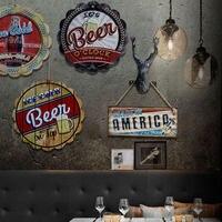 צל בסגנון אמריקנית סדירות סימן פח בציר בית קפה המסעדה פלאק פאב בר הביתה וול דקור רטרו מתכת אמנות פוסטר