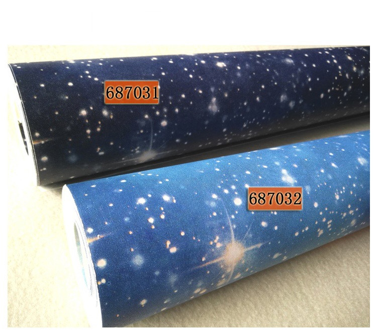 Cosmic Starry Sky Wallpaper Roll Waterproof Wall Background for Living Room PVC Wall Paper Roll Stereoscopic Look Wallcoverings цена