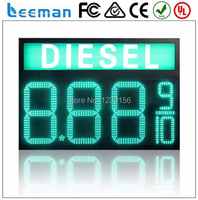 Leeman 10inch Waterproof 7segment Digital Led Gas Price Sign Led Oil Station Display Led Fuel Gasoline