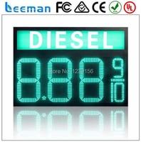 Leeman 10inch Waterproof 7segment Digital Led Gas Price Sign Led Oil Station Display Led Fuel Gasoline
