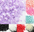 1000pcs Purple Size from 2-10mm Craft ABS Resin Flatback Half Round Pearls Flatback Scrapbook Imitation Beads Jewelry DIY