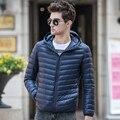 2016 Pato Inverno Para Baixo Homens Jaqueta dos homens Finos Luz Quente jaqueta 90% de Pato Branco Para Baixo Jaquetas E Casacos Outwear Chaqueta Hombre. DC01