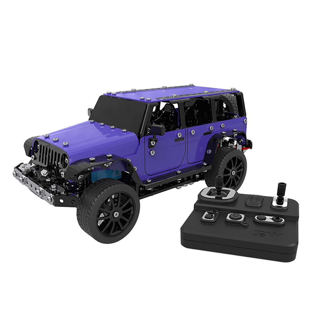 1 16 RC Car Stainless Steel 2CH Remote Control DIY Assembling Jeep 25km h RC Off
