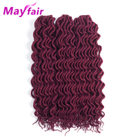 MAYFAIR Faux Locs Crochet Braids Hair Extensions 3 Packs Faux Locs Curly Hair 55g Pack 18