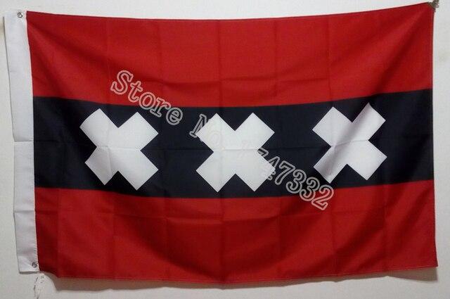 Голландский голландский городской флаг, хит продаж, товары 3X5FT 150X90 см, Custome баннер, латунные металлические отверстия