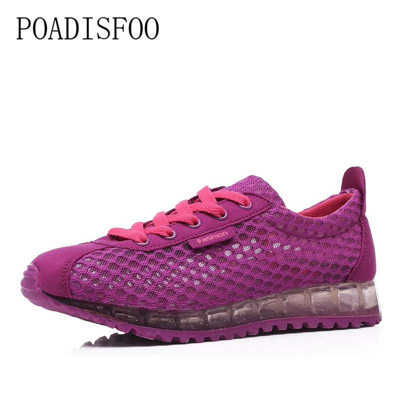 POADISFOO 2018 Summer Breathable Mesh Shoes Casual Shoes Forrest Gump Shoes Korean Flat  ...