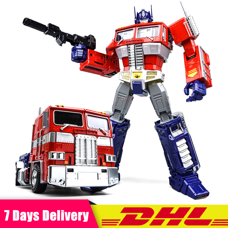 DHL In Stock Weijiang W8019 MPP10 Alloy + ABS Commander Masterpiece Transformation Truck Container Action Figure Birthday Gifts new in stock wei jiang weijiang transformation op commander trailer for mpp10 model oversized action figure robot toy