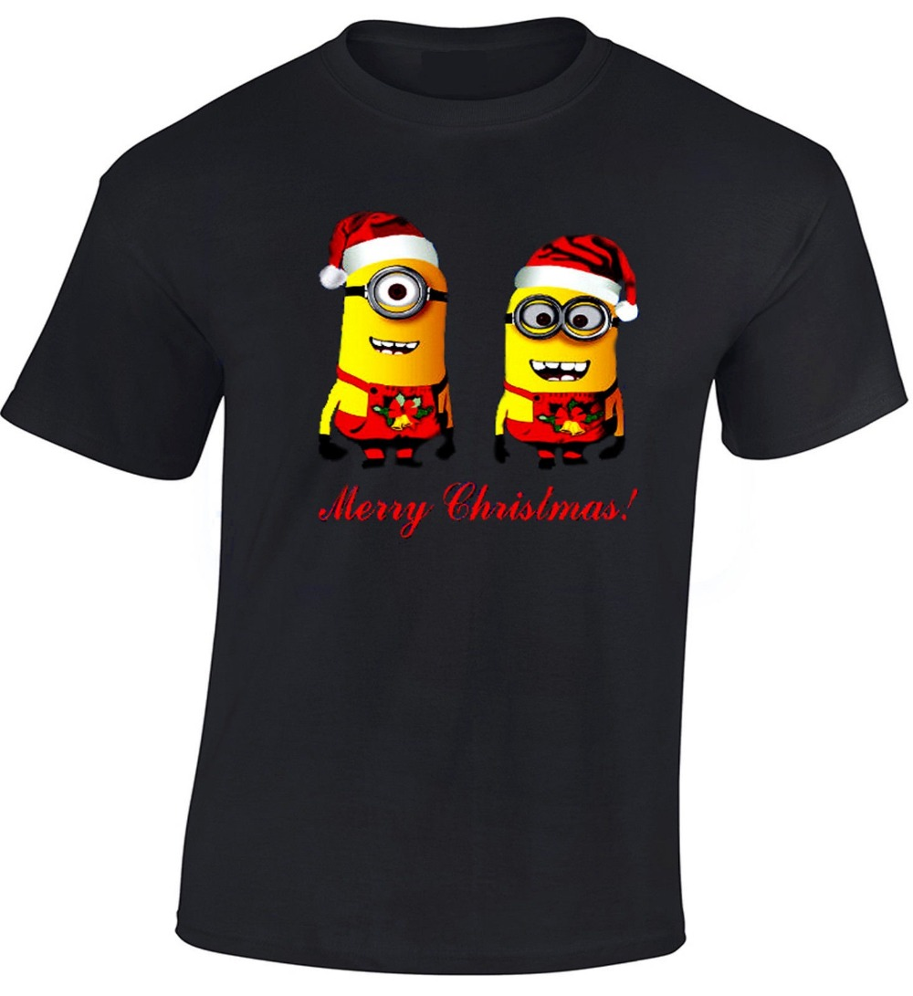 Merry christmas mens t shirt minions graphic design Merry christmas t shirt design