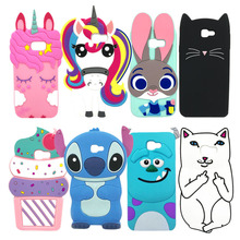 3D Cat Phone Case For Samsung Galaxy J5 Prime G570F G570 SM-G570F Soft Silicone Back Cover Case For Galaxy j5Prime On5 2016 5.0