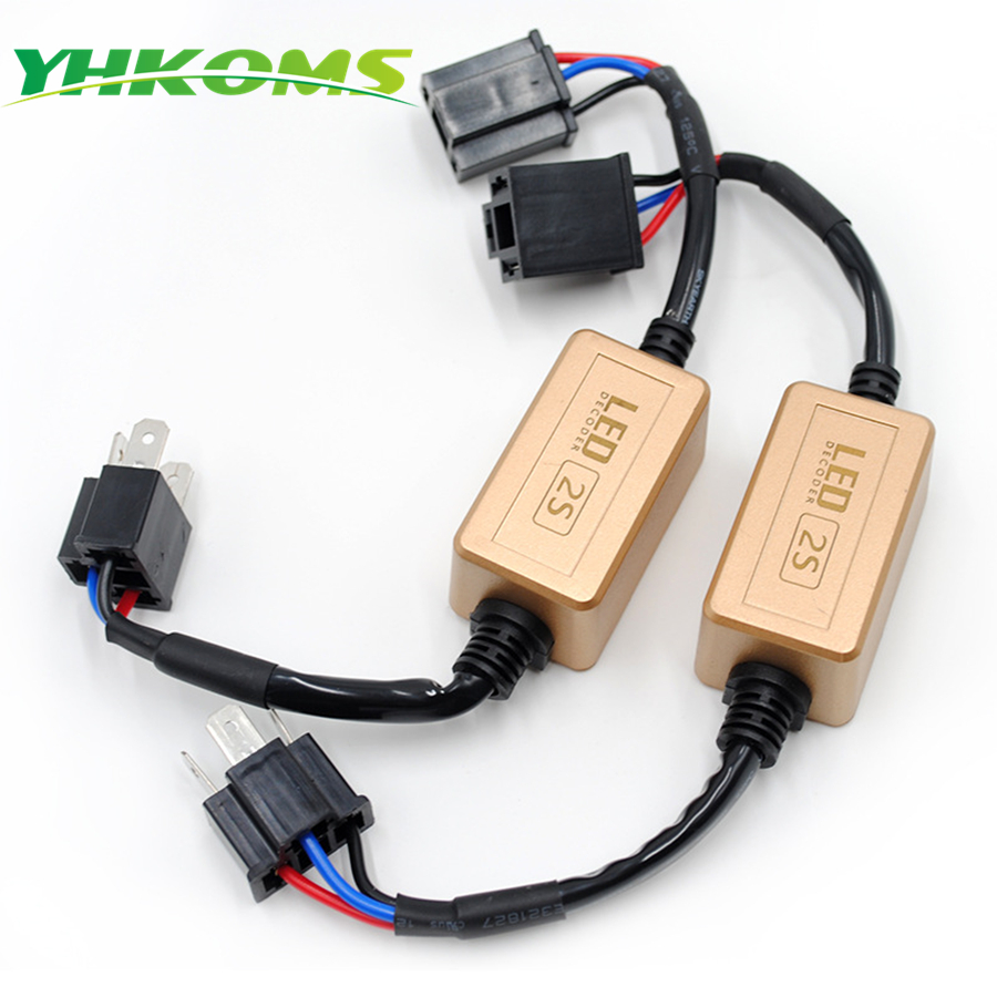 YHKOMS H4 H7 LED Decoder Canbus H1 H3 9005 H 9006 H8 H11 Free error Per LED Auto Faro Canceller Avvertimento No Flickering