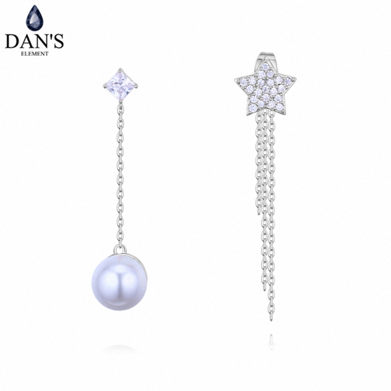 DANS 3 Colors Real Austrian crystals Stud earrings for women Earrings s New Sale Hot Round 128659