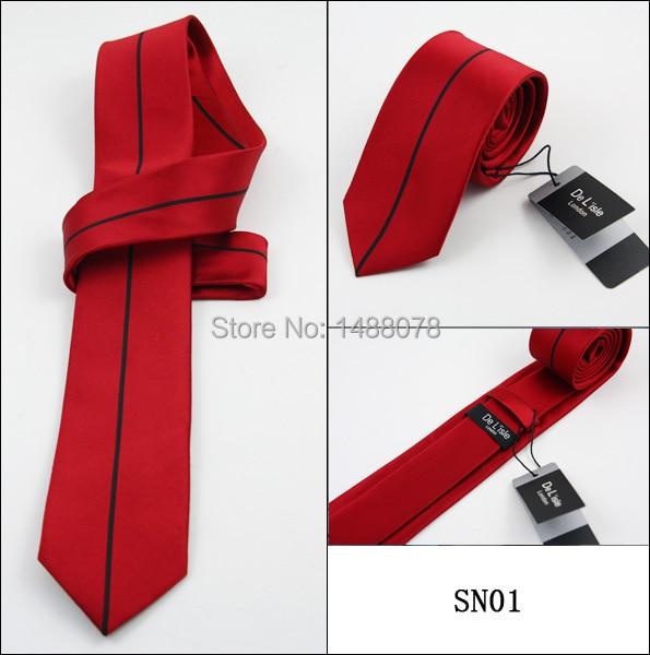 Black Striped Red Ties 2M8-5+