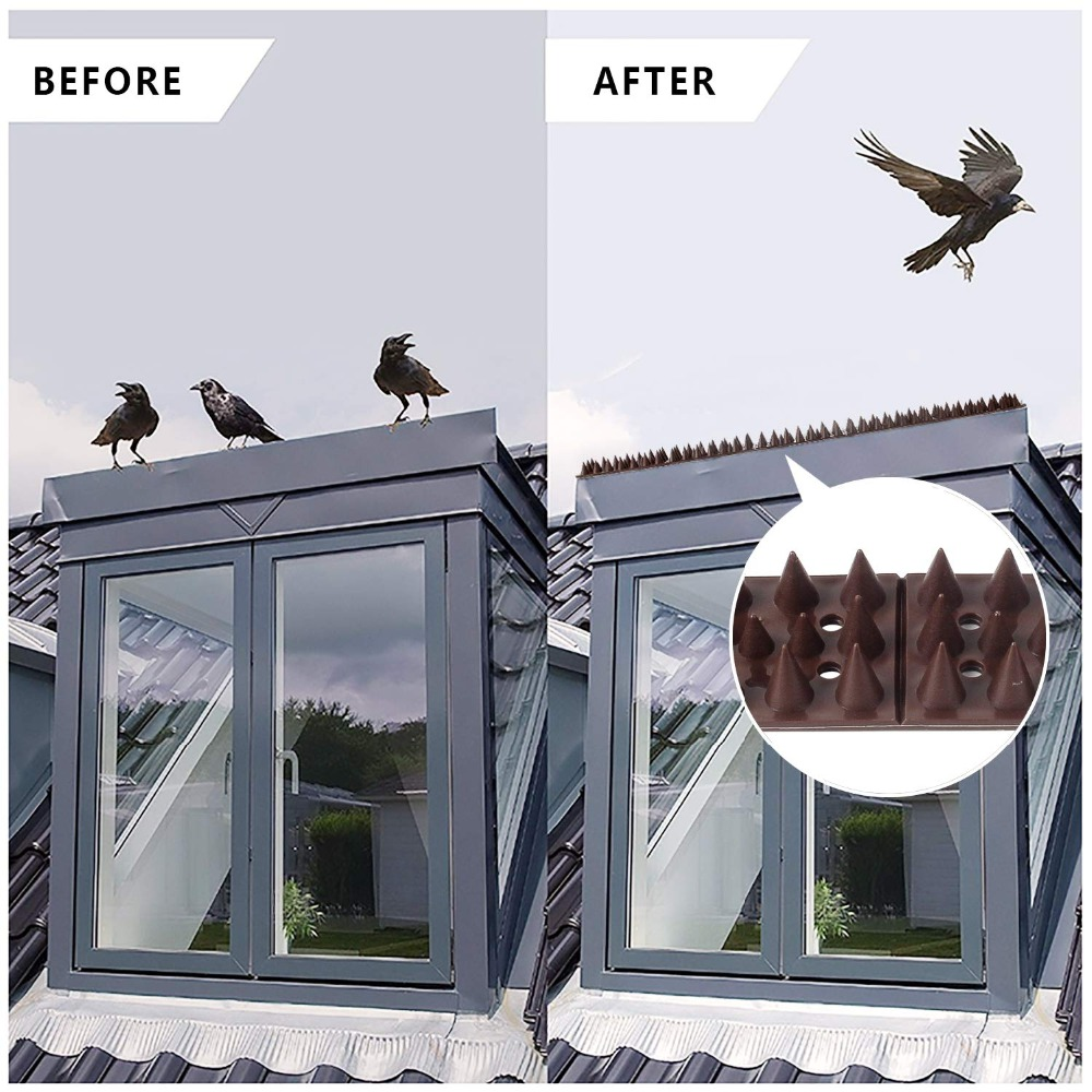 Image 5 - Forever Speed Repellent Plastic Drive Down Bollard Birds Spikes Anti Pigeons Birds  40pcs Spikes brown spikes 49 x 4.5 x 1.7 cmRepellents   -