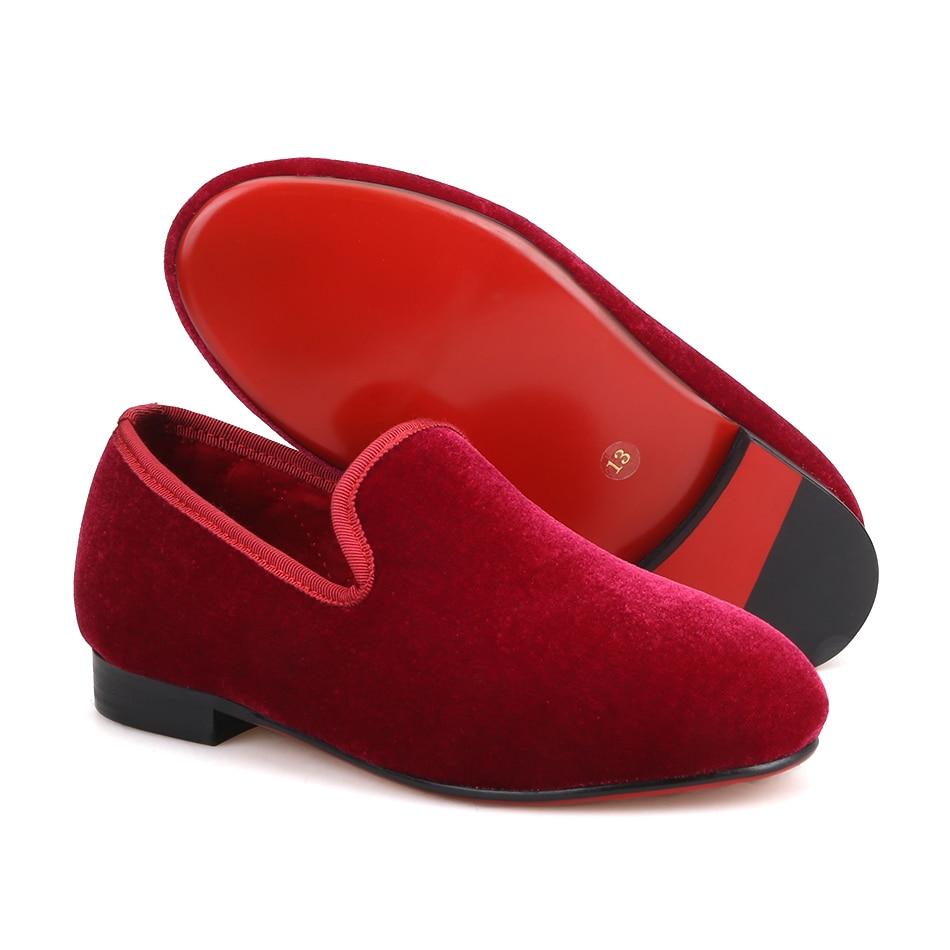 Piergitar/брендовая Вельветовая обувь ручной работы для детей, для вечеринки и свадьбы, Детские Классические лоферы, яркая повседневная обувь д... - 3