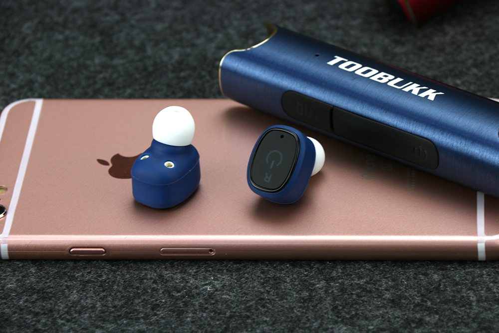 TOOBUKK S2 Portable Mini TWS Wireless Waterproof Bluetooth Earphone In-ear Stereo Handsfree Sport Headset For Phone Earbuds
