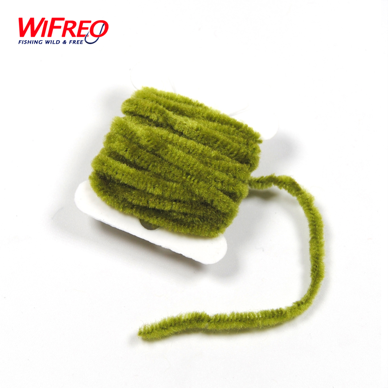 2 Cards Fly Tying Tinsel Chenille for Woolly Bugger Worms Leech etc. Fishing Flies Tying Body Material ( black olive yellow red 5sheets pack 10cm x 5cm holographic adhesive film fly tying laser rainbow materials sticker film flash tape for fly lure fishing