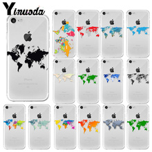 Yinuoda Art watercolor world map Novelty Fundas Phone Case Cover for Apple iPhone 7 8 6 6S Plus X XS MAX 5 5S SE XR Mobile Cases yinuoda travel the world paper plane aircraft novelty fundas phone case cover for apple iphone 8 7 6 6s plus x xs max 5 5s se xr