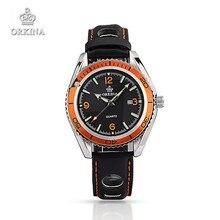 Relojes mujeres de los hombres orkina band fecha display de cuarzo reloj de pulsera banda perforada verano deportes relojes para hombres de las mujeres de color negro