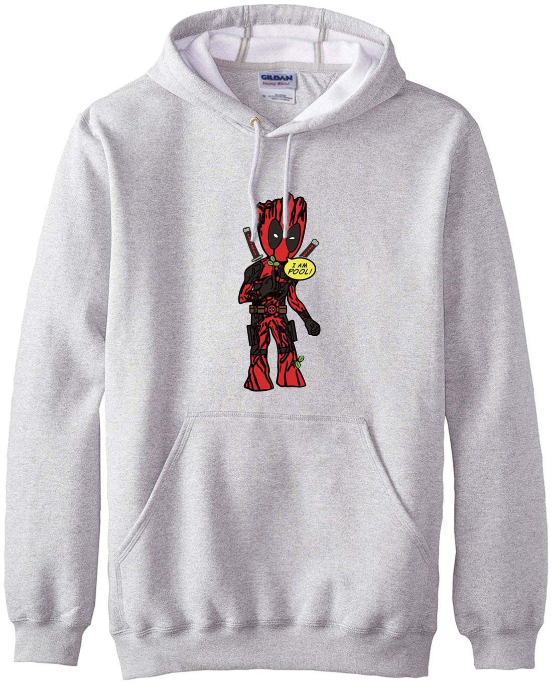 I Am Groot & Deadpool Print Funny Clothing 2019 Autumn Winter Men Hoodies Hipster Style Warm Fleece Sweatshirt Loose Fit Outwear
