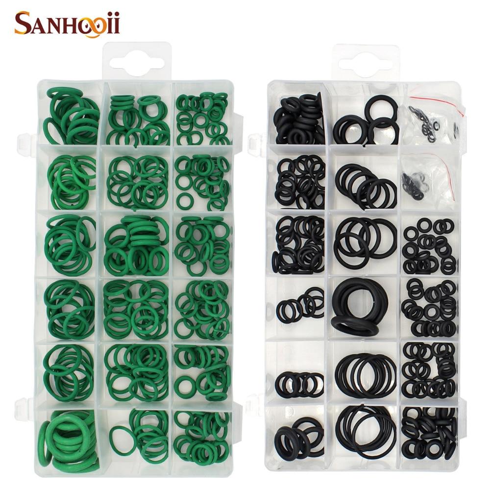 Online Shop SANHOOII 495PCS 36 Sizes O-ring Kit Black&Green Metric O ...