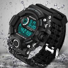 Moda Sport Reloj de Los Hombres de Primeras Marcas de Lujo Famoso Hodinky Electrónica Digital LED Reloj Hombre Reloj de Pulsera Para Hombres Relogio masculino