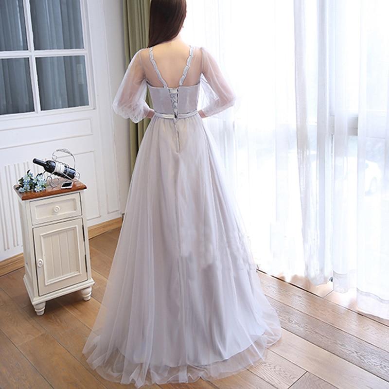 JIERUIZE robe de soiree longue Sølvtulle Billige kveldskjoler Lang - Spesielle anledninger kjoler - Bilde 2