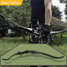 40 Lbs 56 Inches Recurve Shooting Black Aluminum Bow Hunting Outdoor Leisure Athletic Bows The Highest Price