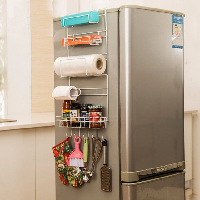 Kitchen Multipurpose Refrigerator Side Storage Rack Nevera Shelf Organizer Sidewall Fridge Multi Layer